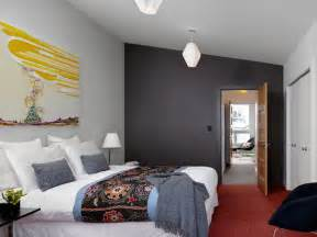 modern bedroom paint ideas modern bedroom ideas with contrasting wall color paint