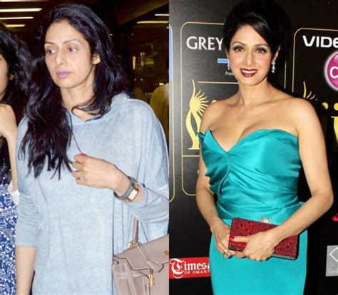 sridevi without makeup bollywood celebs with vs without makeup