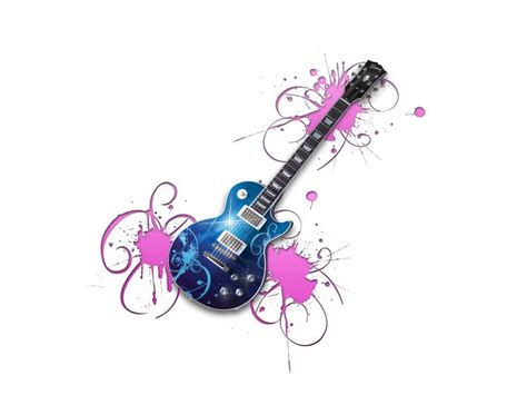 girly guitar wallpaper girly guitar background graphics pictures images for