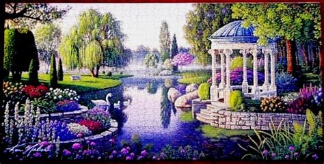 Garden Puzzle by Secret Garden Jigsaw Puzzle Preassembled And Framed