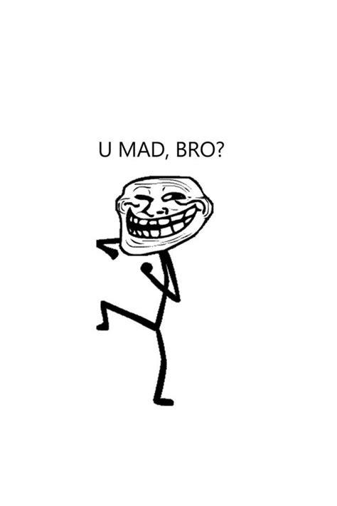 U Mad Meme Face - u mad bro troll iphone 4 wallpaper 640x960