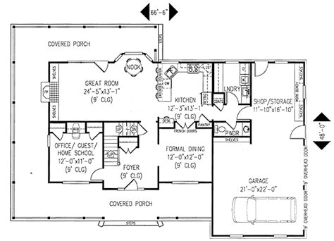 porch floor plans architectural designs