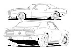 67 camaro line drawing chevrolet forum chevy