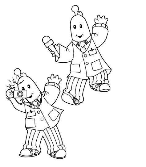 bananas in pajamas coloring pages coloring home