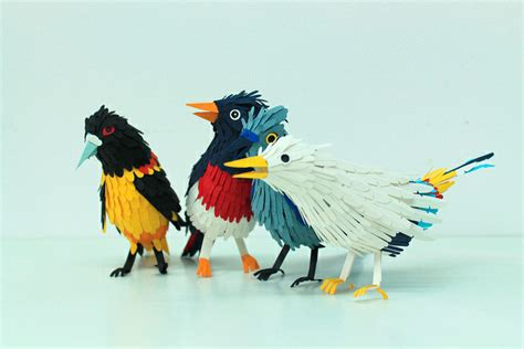 Paper Craft Birds - these paper craft birds are just freaking gorgeous