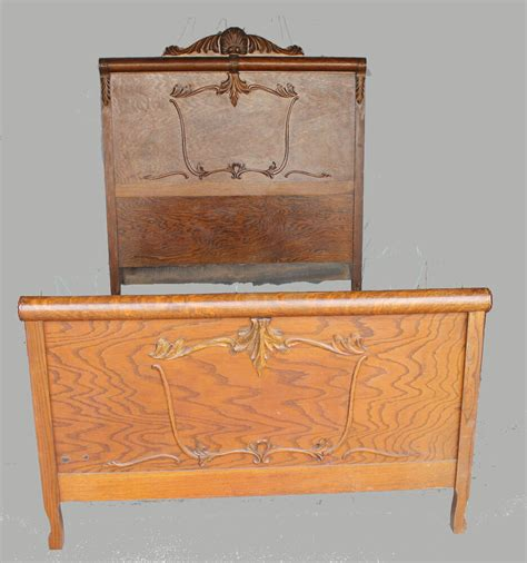 Antique Beds by Antique Oak Bed Original Finish Size Ebay
