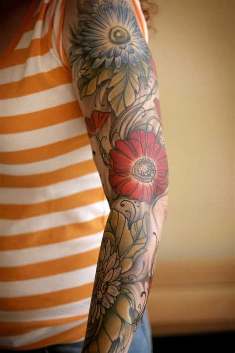 vine sleeve tattoo designs 30 fabulous floral sleeve tattoos for tattooblend