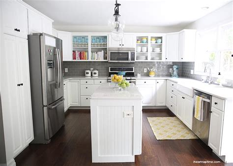 Yellow And Gray Kitchen by White And Grey Kitchen Makeover I Heart Nap Time