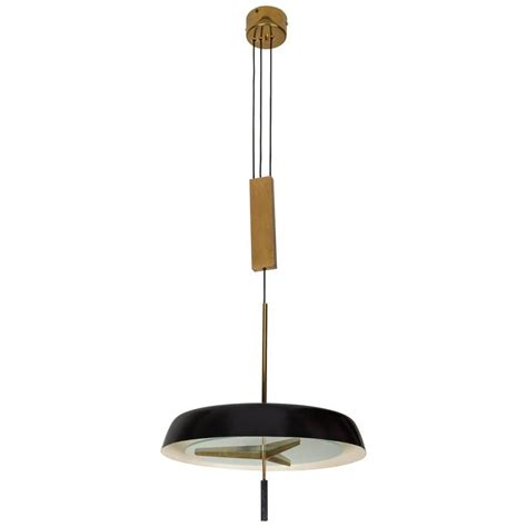 Pendant Light With Brass Pulley By Stilnovo For Sale At Pendant Light Pulley