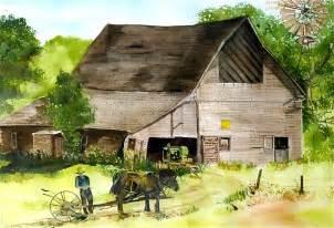 amish barn amish barn painting by susan crossman buscho
