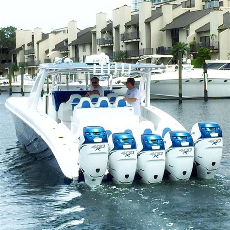 boats with outboards midnight express 43 open quintessence boat with five 400