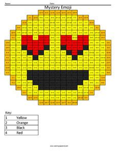 love emoji division coloring coloring squared