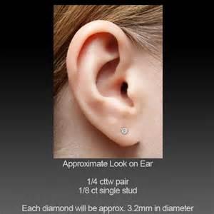 1 4 carat earring single stud 1 4 carat si1 h