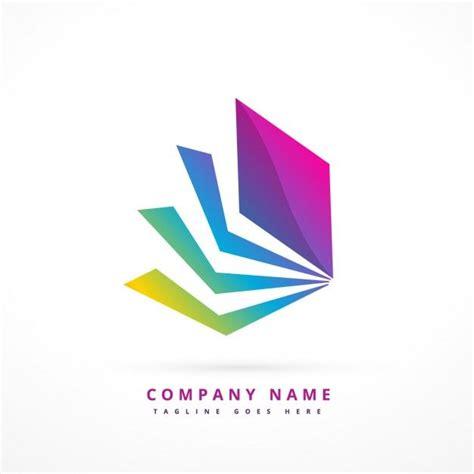 logo abstracto con forma colorida vector gratis ejemplos