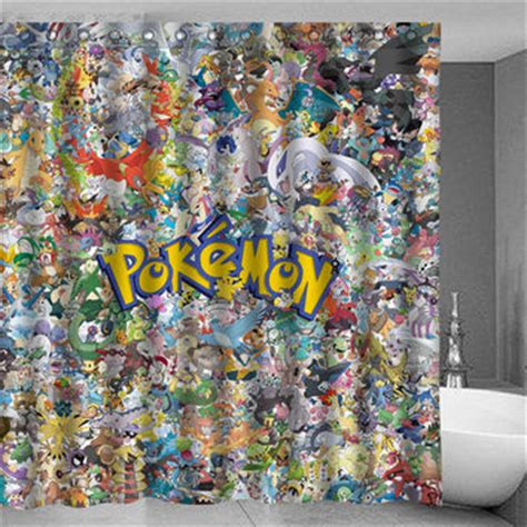 pokemon curtains best pokemon shower curtain products on wanelo