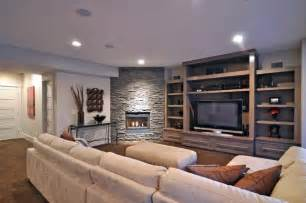 Small Living Room With Center Fireplace Media Center And Stacked Fireplace Contemporary