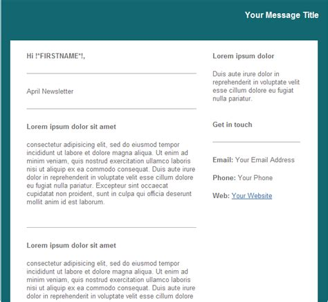 mass email templates groupmail teal newsletter email template 1 free