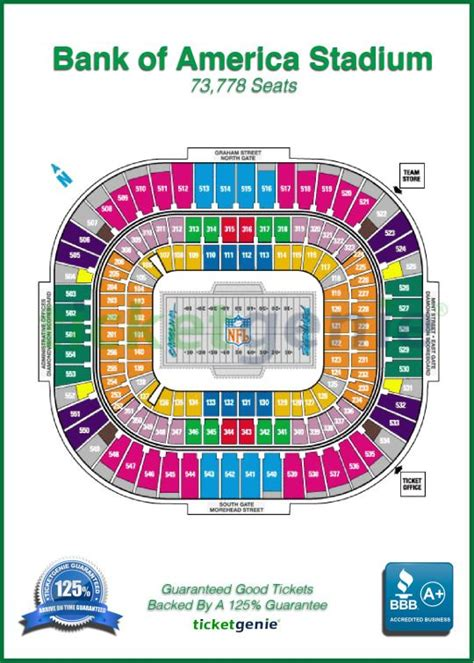 bank of america stadium seating 12 best popular nfl stadium seat maps images on