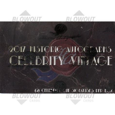 historic autographs celebrity vintage 2018 historic autographs celebrity vintage box
