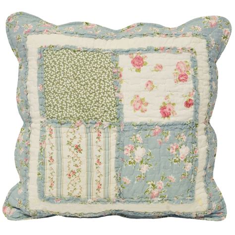 Patchwork Cushion - riva paoletti lavandou green country patchwork cushion