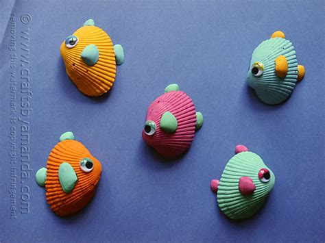 sea shell craft for tropical seashell fish craft crafts by amanda