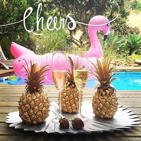 new year pineapple decoration cheers happy new year pink flamingos gold pineapples