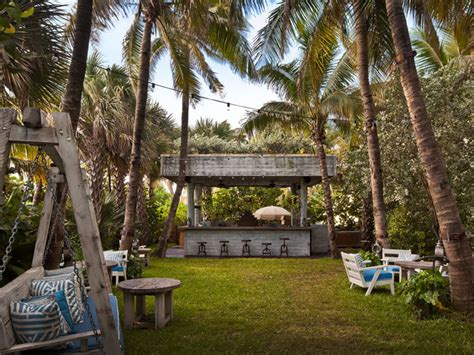 Backyard Kitchens Soho Beach House Tropical Landscape Miami By