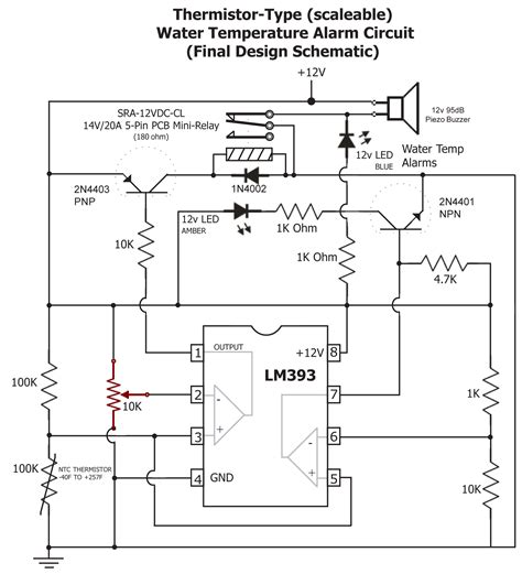 temperature thermistor circuit diagram wiring diagrams