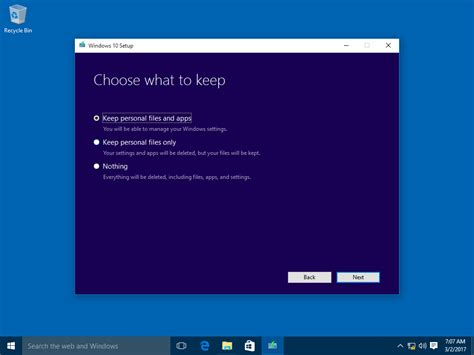 install windows 10 keep personal files and apps how to upgrade to windows 10 version 1803 spring creators