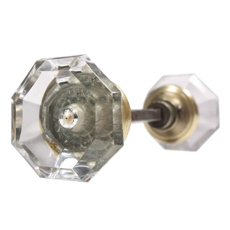Glass Door Knobs For Sale Antique Faceted Octagonal Glass Door Knob Set Ndk91 Rw For Sale Antiques Classifieds