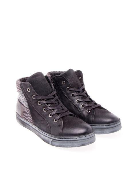 Vans Combi Leather mjus sneaker combi leather w prints nero grigio nero