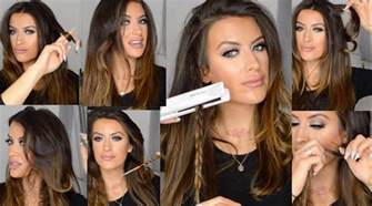 curling medium length hair with curling iron how to curl and wave hair using flat iron hair