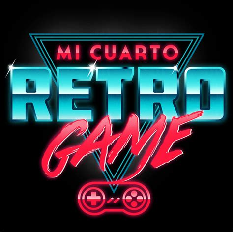 game design visual style mi cuarto retro game logo on behance