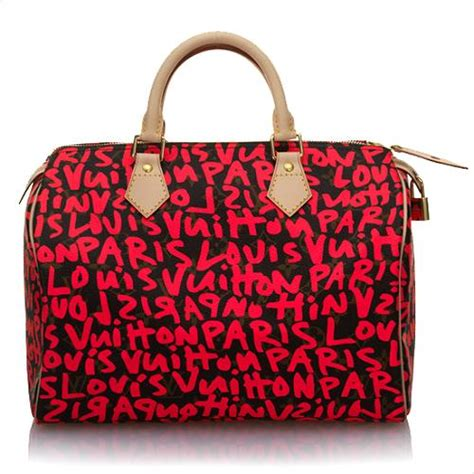 Tas Lv Seepdy Edition louis vuitton limited edition speedy graffiti handbag