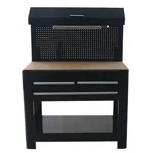 work benches at lowes shop kobalt 45 in w x 36 in h 3 drawer wood work bench at