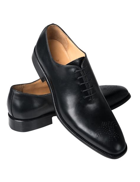 Black Shoes by S Black Cooper Wholecut Shoe Hawes Curtis