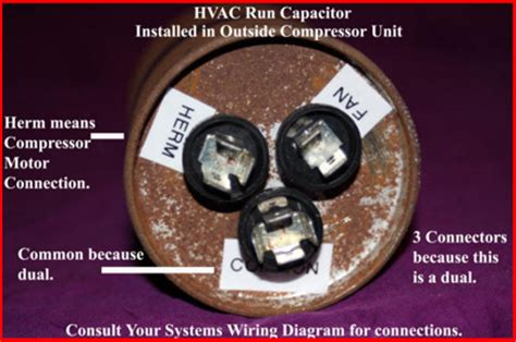 herm en capacitor hvac how to replace the run capacitor in the compressor unit