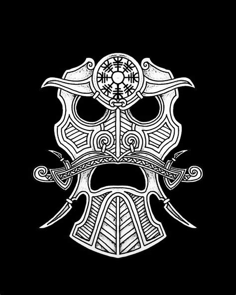 protection symbol tattoo designs from the small protection mask design