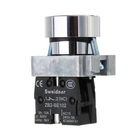 Push Button Diameter 22mm 22mm diameter 1no 1nc latching switch contact push button