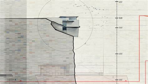 sections of a thesis cliff retreat section spread visualizing architecture