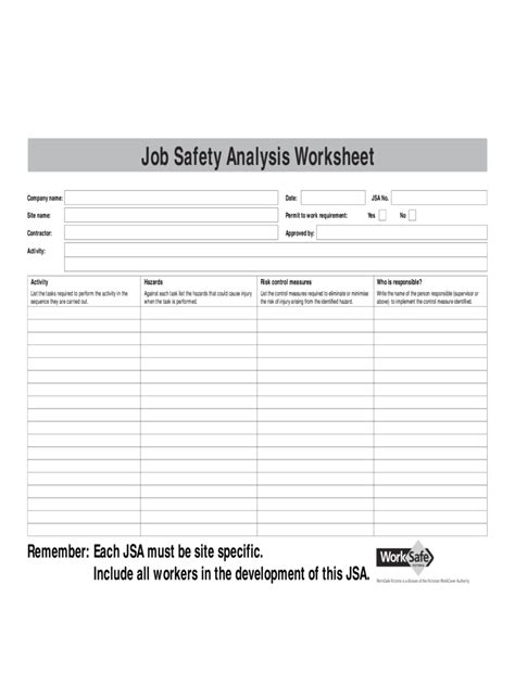 jha template 28 images jsa stock checklist template