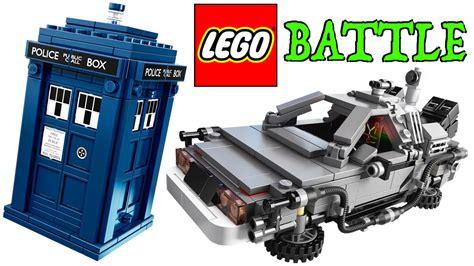 tardis vs delorean lego time machine battle bttf delorean v doctor who tardis