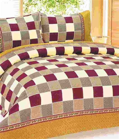 pattern bed sheets iws checks pattern double bed sheet with 2 pillow covers