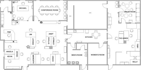design office floor plan the office layout the office photo 1757949 fanpop
