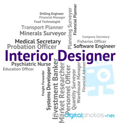 interior design words interior designer shows hire words and occupations stock