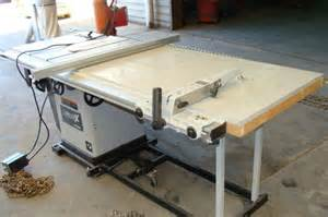 lot 1025 delta x5 unisaw table saw mobile base table ext