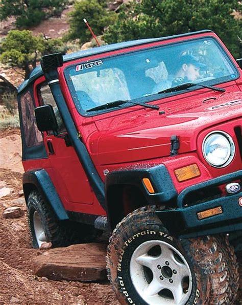 jeep snorkel install arb ss1055hf safari snorkel for 99 06 jeep 174 wrangler tj