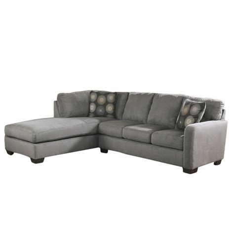 ashley furniture sectional microfiber ashley furniture zella microfiber sofa sectional in
