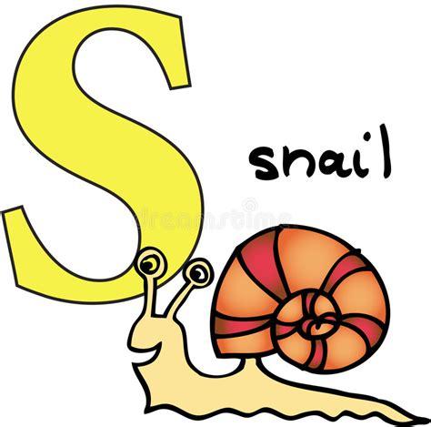 Gratis Illustratie S Brief Alfabet Alfabetisch Abc dierlijk alfabet s slak vector illustratie illustratie