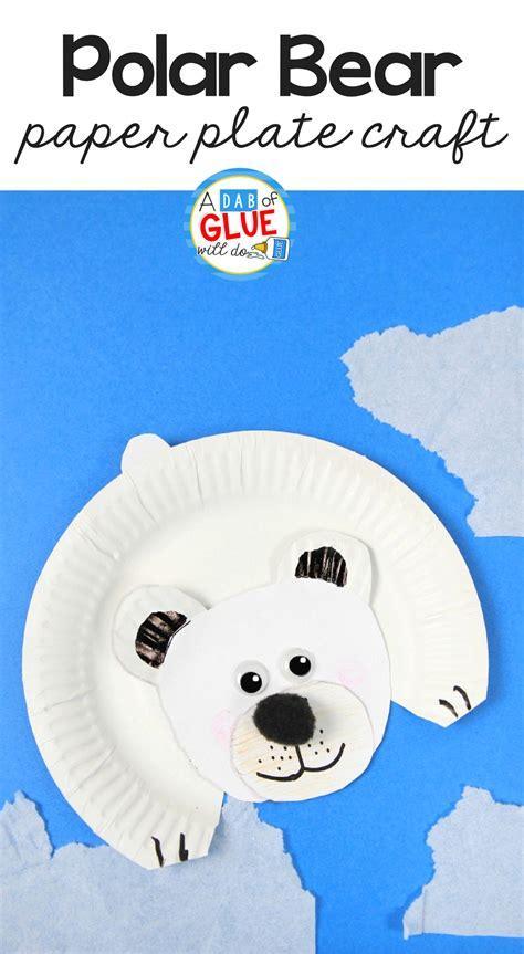 polar paper plate craft arctic animals for polar craft a dab of glue